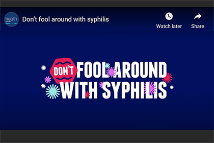 Don't fool around with syphilis